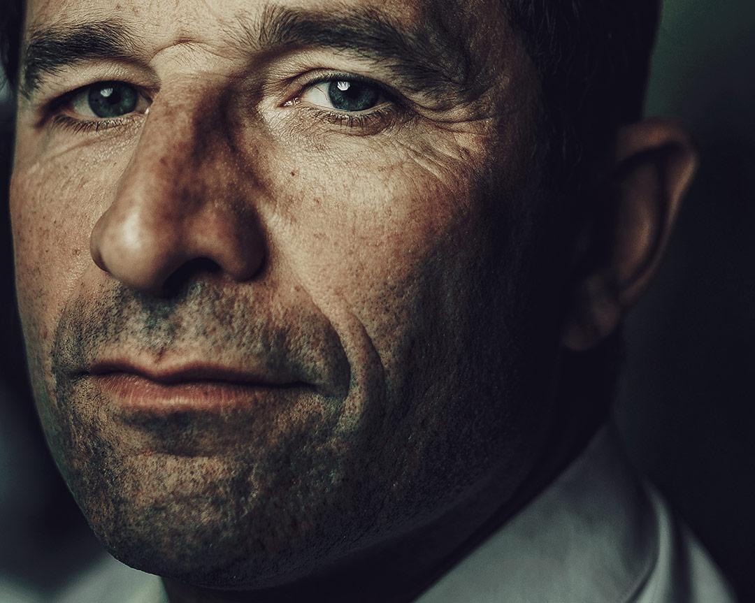 Portrait de BENOÎT HAMON. POLITICIEN - L'oeil de Ken